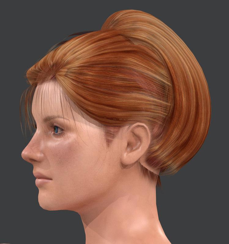 3D lisa character blender realist model