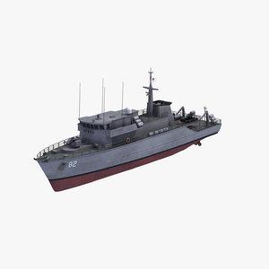 huon class minehunter 3D model
