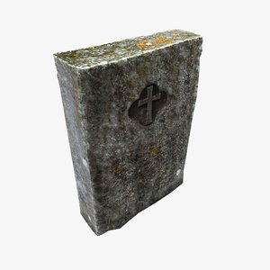 tomb tombstone stone 3D
