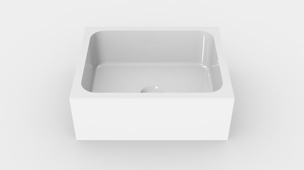 3D bathroom sink -