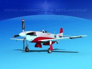 mustang cockpit 3D model