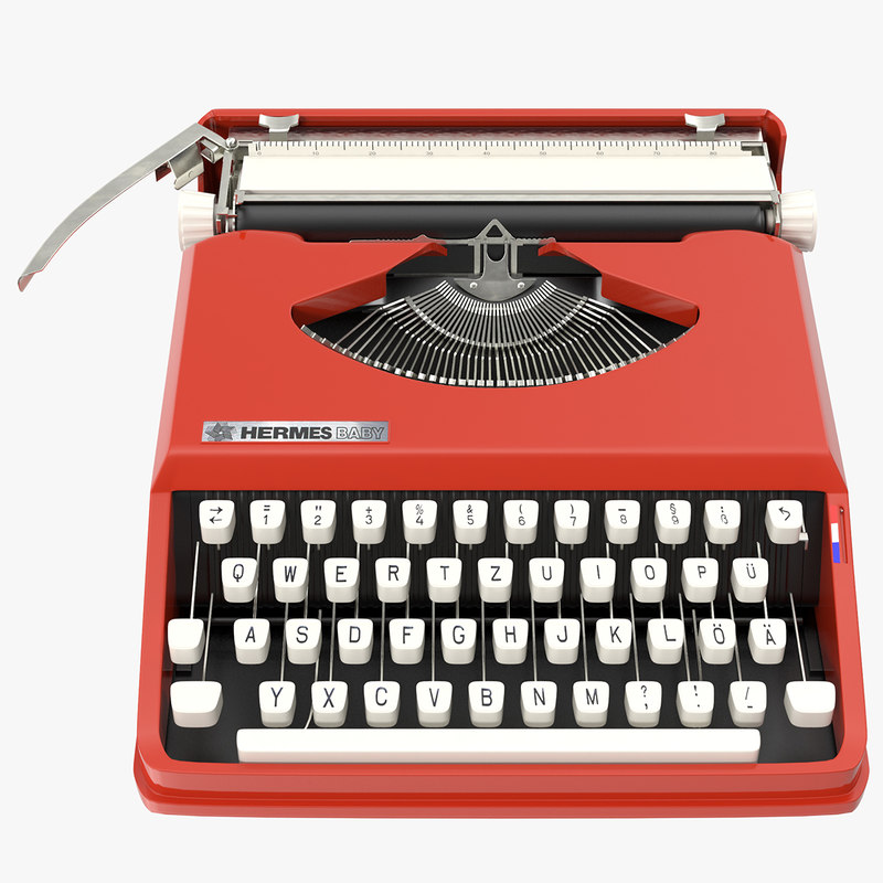 hermes baby typewriter 3D