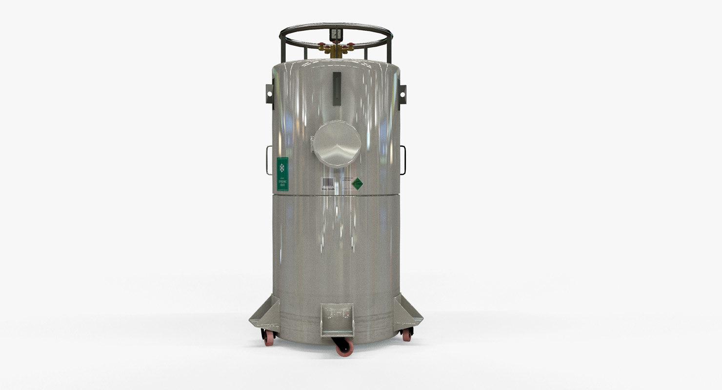 cryogenic tank 3D model