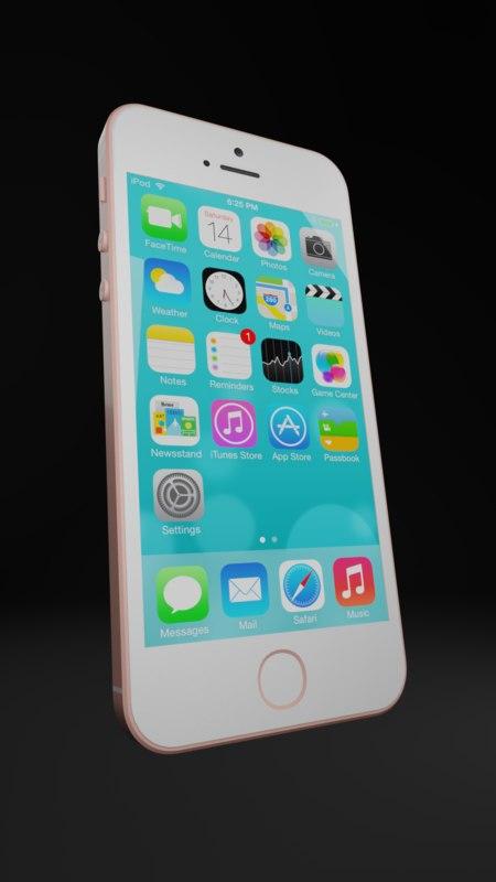 3D iphone se model