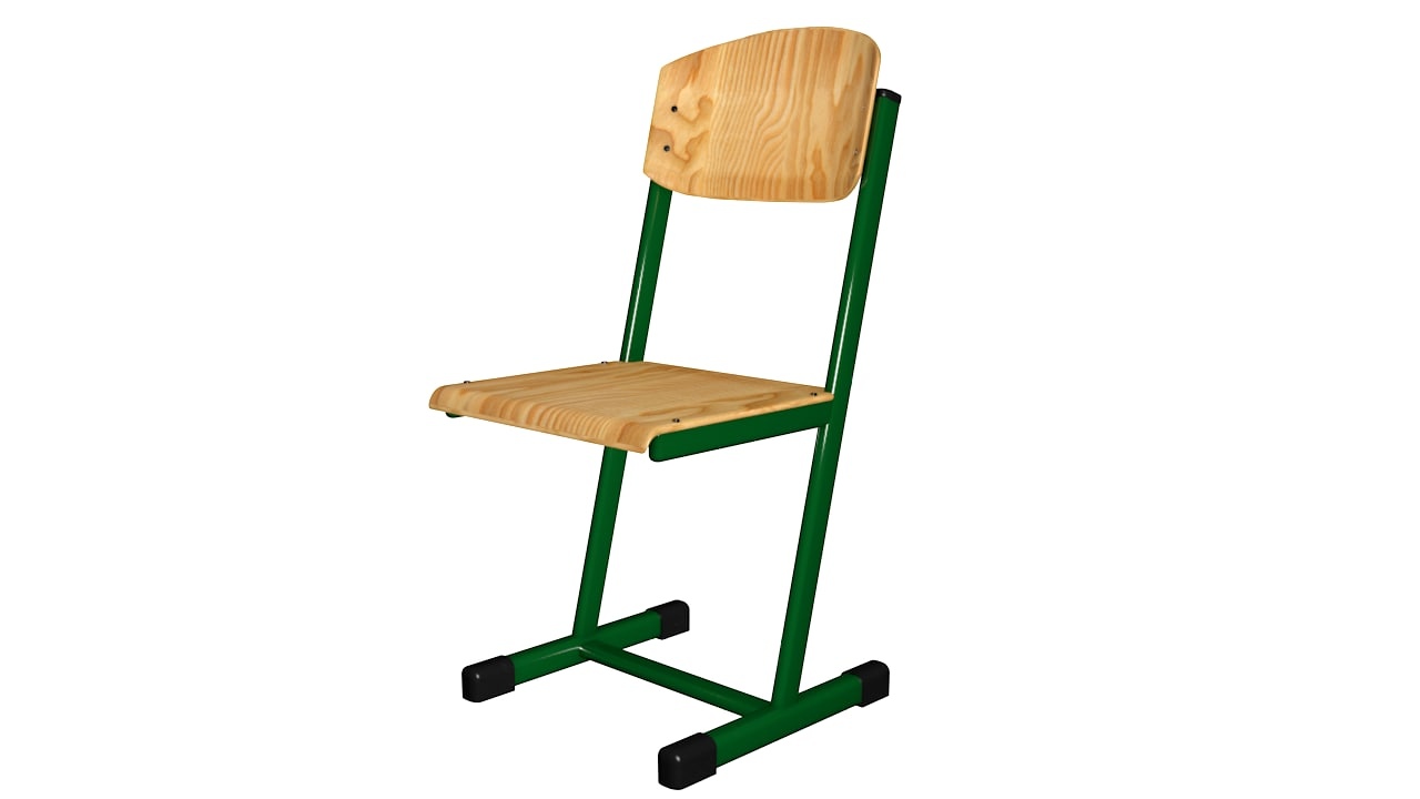 3D european school chair