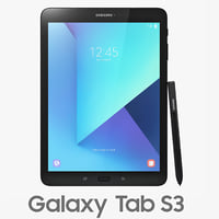 3D samsung galaxy tab s3 model