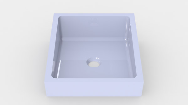 3D bathroom sink -