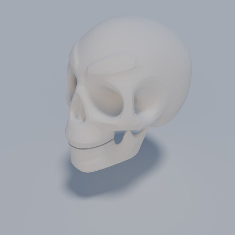 3D model stylized skull