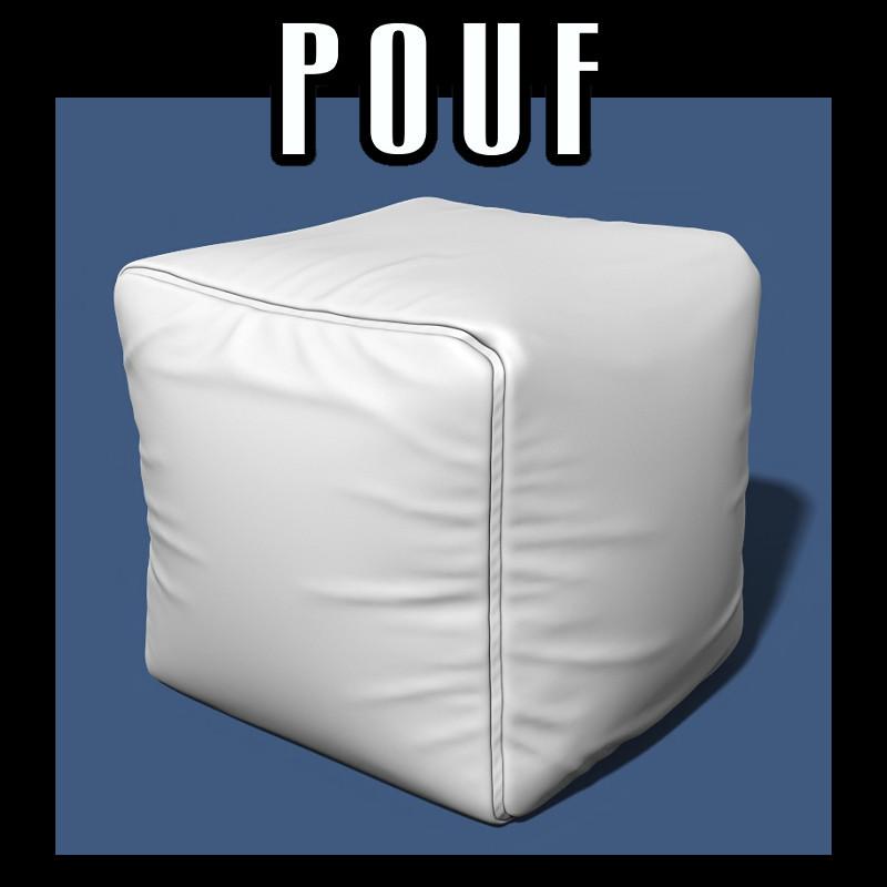 3D pouf interiors model