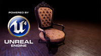 victorian chair ue4 ready 3D model