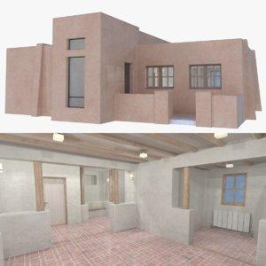3D adobe interior