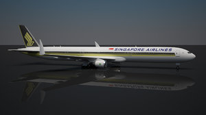 3D singapore airlines 777 -