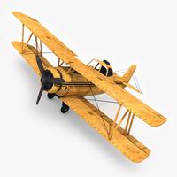 biplane ready games 3D model