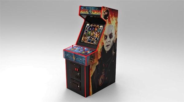 3D mortal kombat 4 arcade machine model