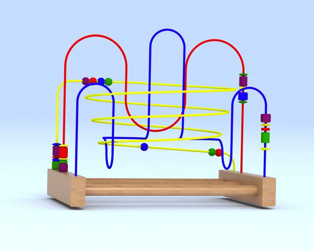 3D model childs roller coaster