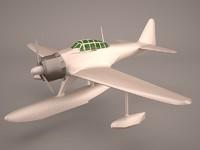 3D model plane nakajima a6m2-n