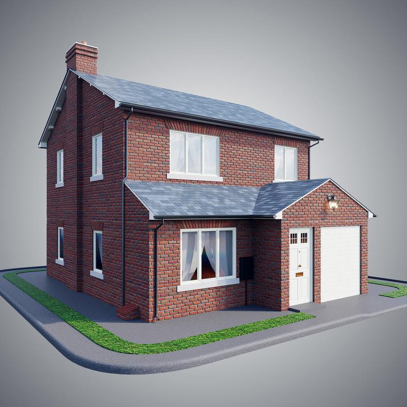 3D brick house