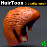 hair toon 3 mesh head model