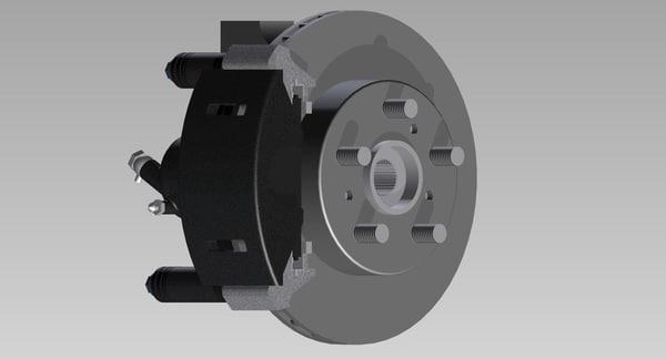 brake car disc 3D model