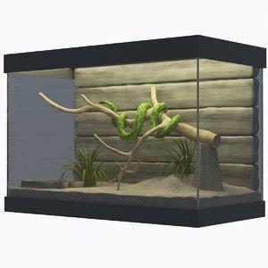 snake terrarium 3D model