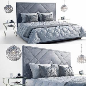 3D bedroom set model