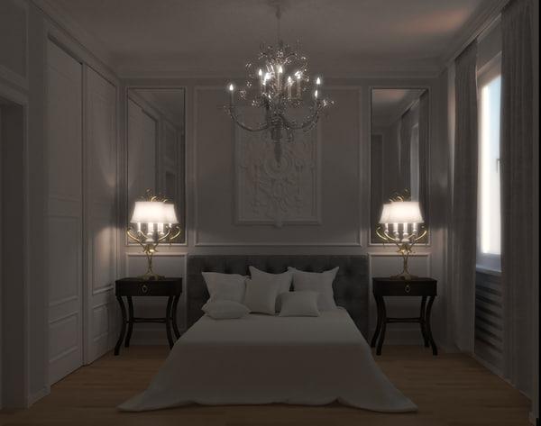 classic interior living room 3D model