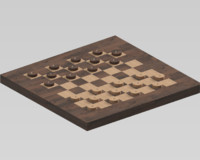 3D model backgammon table