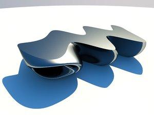 modern bench 3D model