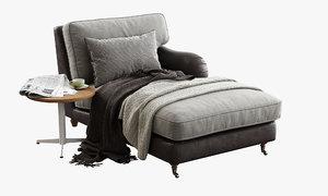3D sits howard chaise longue