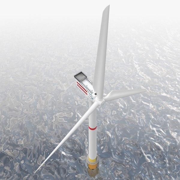 3D model offshore wind turbine