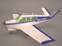 3D beechcraft beech king huron