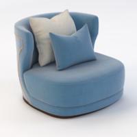 etienne armchair baxter 3D