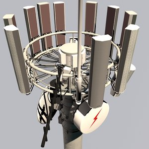 3D model cell repeater tower