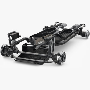 3D suv chassis frame model