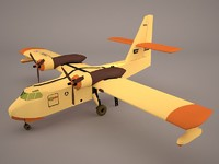 aircraft airplane canadair cl 3D model