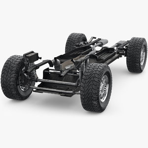 3D suv chassis frame 2 model