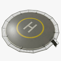 3D model helipad unity unreal