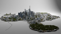 cityscape city scape 3D model