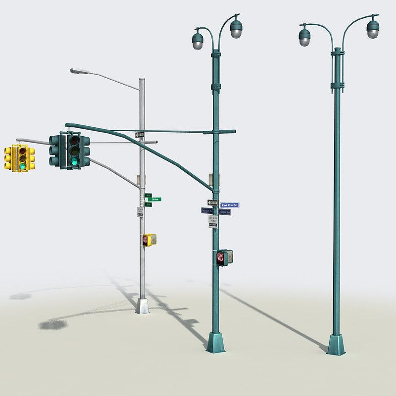 street traffic light 3D model