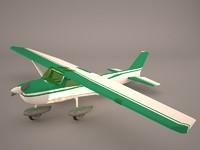 3D cessna airplane sky skylane
