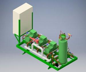 compressor pack 3xbitzer 4-tes-9y model