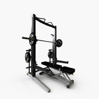 power personal strength bench 3D model