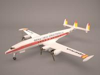 3D model a321 airbus 321 iberia