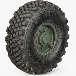 3D wheel military model