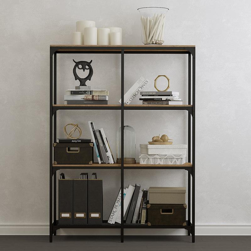 3d shelf unit fjallbo turbosquid 1149757. Black Bedroom Furniture Sets. Home Design Ideas