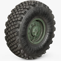wheel military 2 3D model