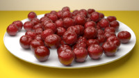 3D cherry fruit