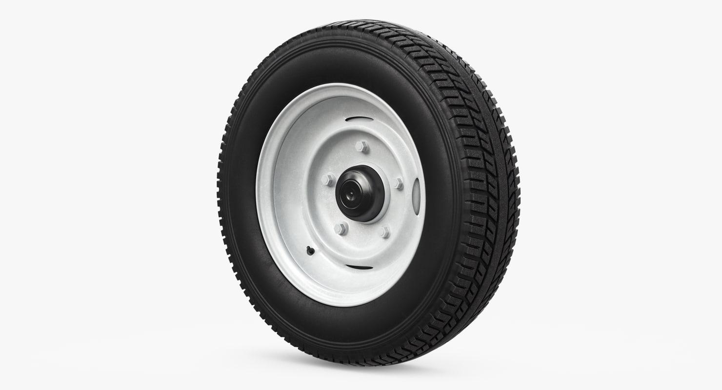 3D wheel retro