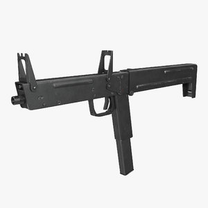 russian folding submachine gun 3D model