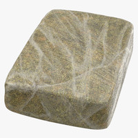 3D model large wrapped drug brick